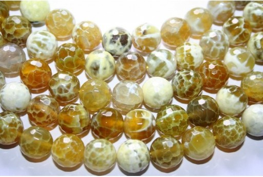 Fire Agate Beads Lime Sphere 14mm - 28pz