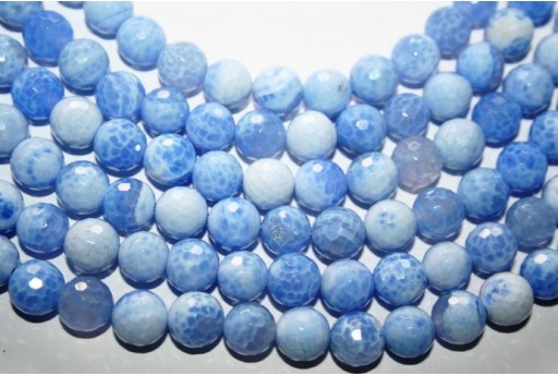 Fire Agate Beads Sky Blue Sphere 10mm - 38pz
