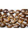 Filo 18 Pietre Occhio di Tigre Goccia Donut 18x22mm OCDT21