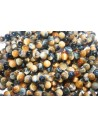 Tiger's Eye Round Beads Blue/Gold 8mm - 4pcs