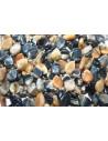 Pietre Occhio di Tigre Blue/Oro Goccia 15x10mm - 2pz