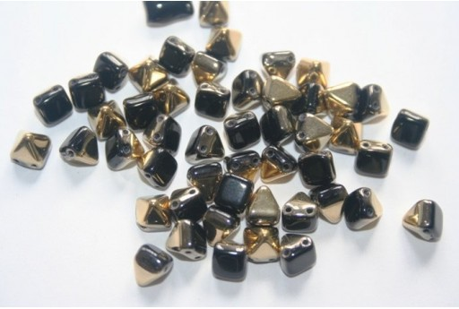 Pyramid Beads 6x6mm, 20Pz., Jet Amber Col.8026441