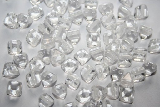 Pyramid Beads 6x6mm, 20Pz., Crystal Col.00030