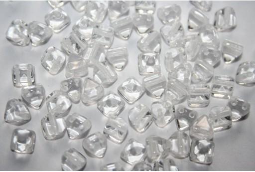 Perline Pyramid 6x6mm, 20Pz., Crystal Col.00030