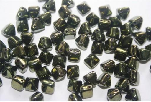 20 Perline Pyramid 6x6mm Lila Vega Luster Col.15726