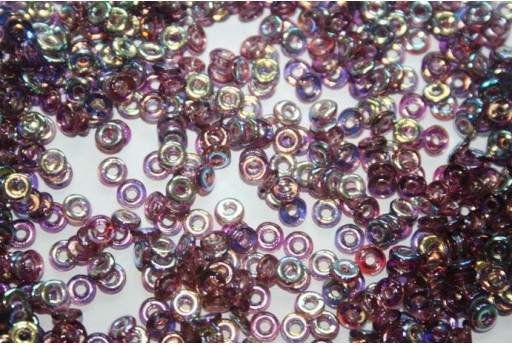 Perline O Bead 1x3,8mm, 5gr, Amethyst AB Col.20060