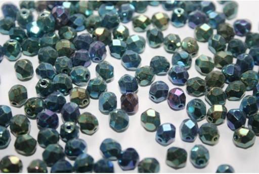 Perline Mezzi Cristalli 6mm, 30pz, Iris Green Col.21455JT