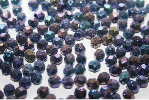 Perline Mezzi Cristalli 6mm, 30pz, Iris Blue Col.21435JT