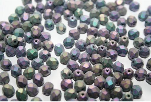 Fire Polished Beads 6mm, 30pz, Matte Iris Purple Col.21195JT