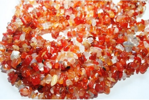 Cornelian Beads Chips 5x8mm - 220pz