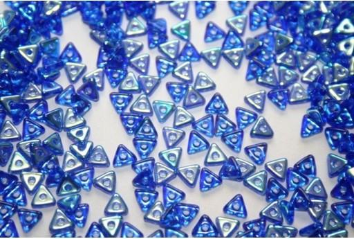 Tri-Beads 4mm, 5gr., Sapphire AB Col.28701