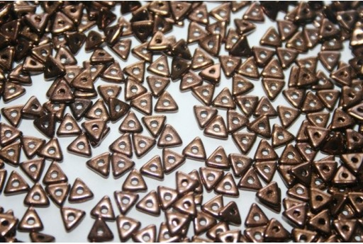 Perline Tri-Bead 4mm, 5gr., Jet Bronze Col.14415