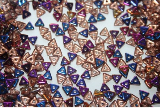 Perline Tri-Bead 4mm, 5gr., Crystal Sliperit Col.29500