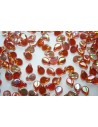 Perline Pip Beads 5x7mm, 30Pz., Crystal Orange Rainbow Col.98535