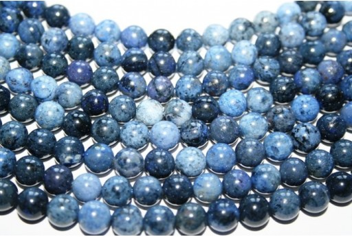 Dumortierite Beads Sphere 8mm - 3pz
