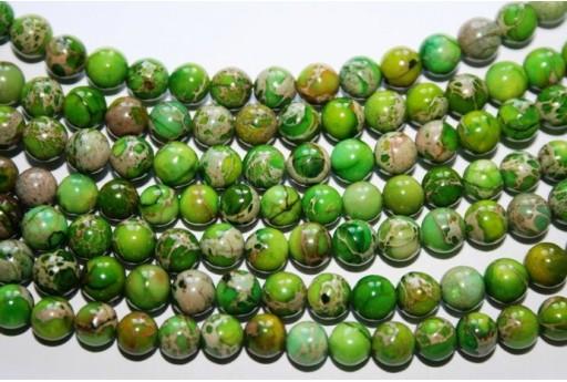 Pietre Jasper Impression Verde Sfera 6mm - 5pz