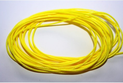 Neon Yellow Waxed Polyester Cord 1mm - 12m MIN125AA