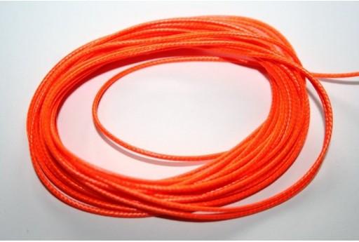 Neon Orange Waxed Polyester Cord 1mm - 12m MIN125AC