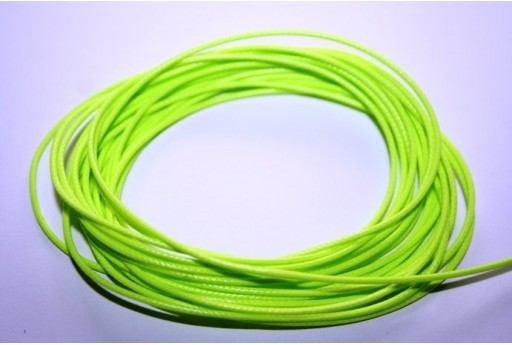 Neon Green Waxed Polyester Cord 1mm - 12m MIN125AE
