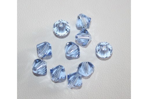 Bicono Swarovski Light Sapphire 6mm, 6Pz. 53286M211
