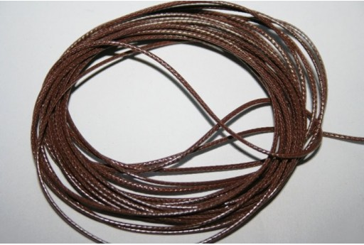 Brown Waxed Polyester Cord 1mm - 12m MIN125W