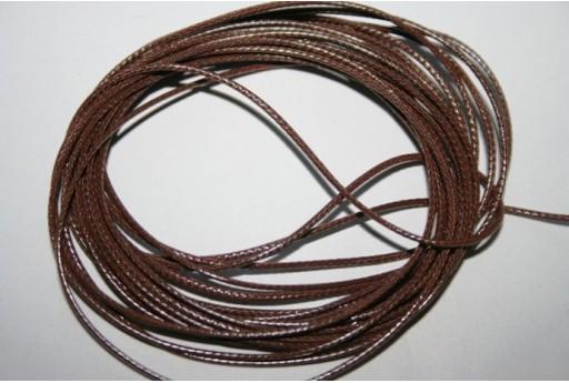 Filo Poliestere Cerato 1mm, 12mt. Marrone MIN125W