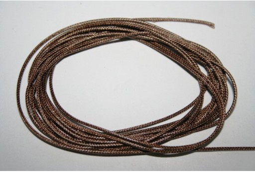 Light Brown Waxed Polyester Cord 1mm - 12m MIN125Y