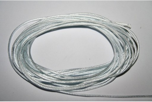 Ice White Waxed Polyester Cord 1mm - 12m MIN125J