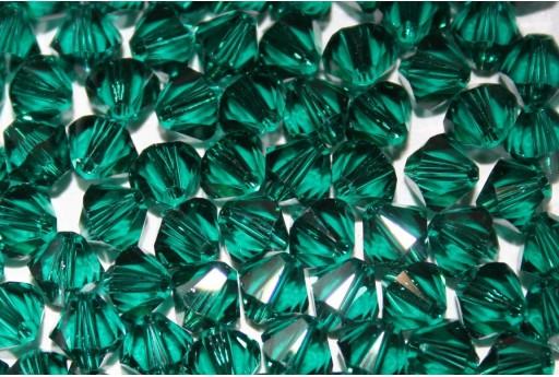 Bicono Swarovski Emerald 5328 6mm - 6pz