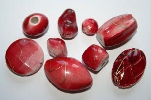 Perline Acrilico Rosso