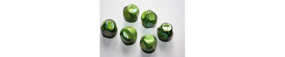 Green Acrylic Beads