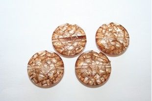 Acrylic Beads Brown