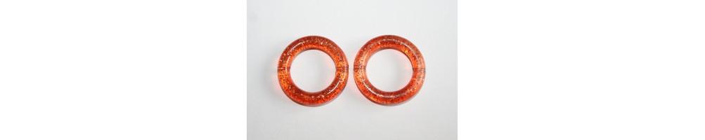 Orange Acrylic Beads