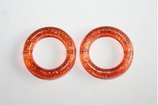 Acrylic Beads Orange