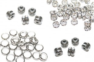 Stainless Steel Rondelle Beads