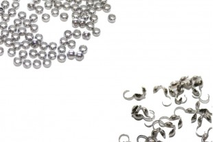 Stainless Steel Crimp Beads and End Tip Calottes