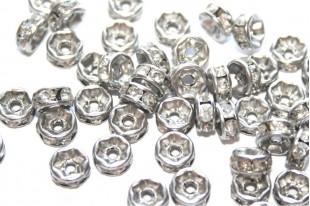 Roundelle Rhinestone Beads
