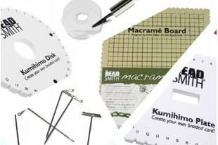 Kumihimo, Macramè e articoli correlati