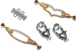 Rhodium Plated Copper Clasps